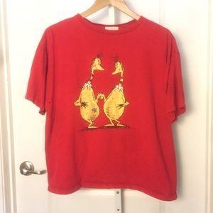 Vtg Dr Seuss The Sneetches Red T Shirt